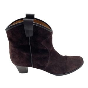 Array Brown Suede Ankle Boots